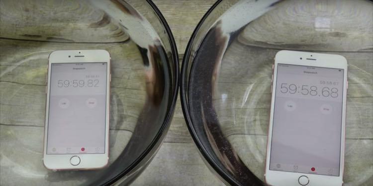 iPhoneを水につけてみた