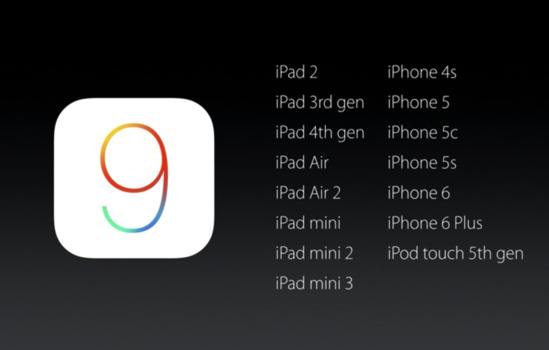 iOS9の対応機種
