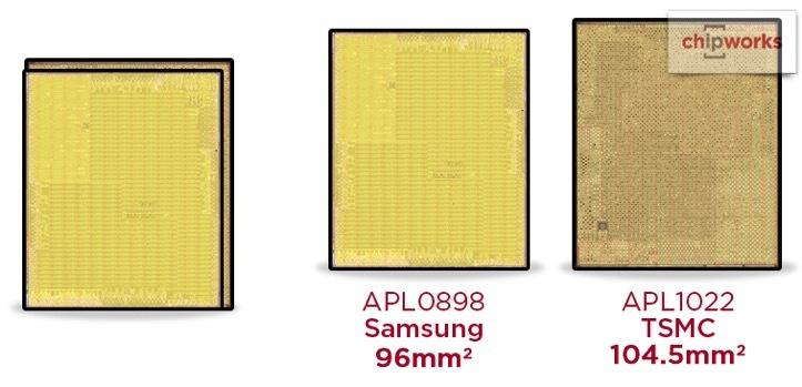 iPhone6sのチップのサイズが違う事が判明!