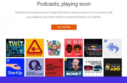 GoogleのPodcast