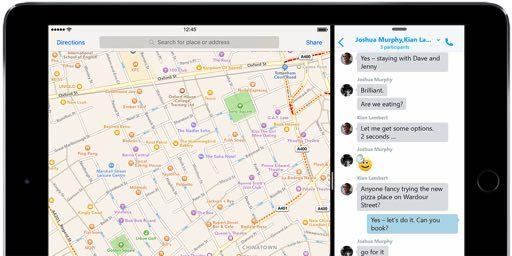 SkypeがSlideOverやSplitViewに対応