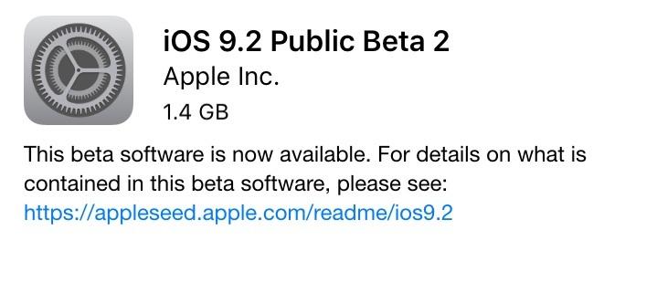 iOS9.2 Public Beta