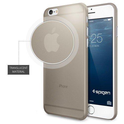 iPhone 6 ケース Spigen [薄さ0.4mm] エアースキン Apple iPhone 4.7 (2014) (国内正規品) (シャンパン・ベージュ 【SGP11082】)