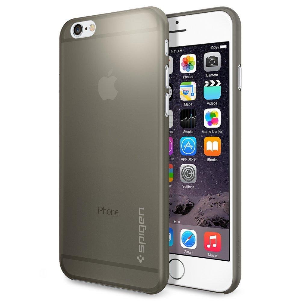 iPhone 6 ケース Spigen [薄さ0.4mm] エアースキン Apple iPhone 4.7 (2014) (国内正規品) (グレー 【SGP11079】)