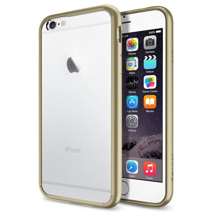 iPhone 6 ケース Spigen [ クリア バンパー] Apple iPhone 4.7 (2014) ウルトラ・ハイブリッド (国内正規品) (シャンパン・ゴールド 【SGP10949】)