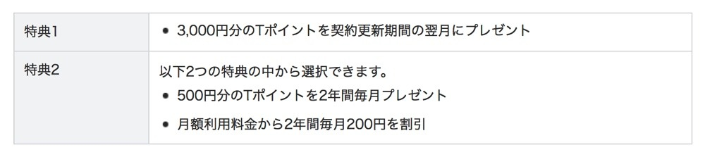 Softbank Tポイントプレゼント