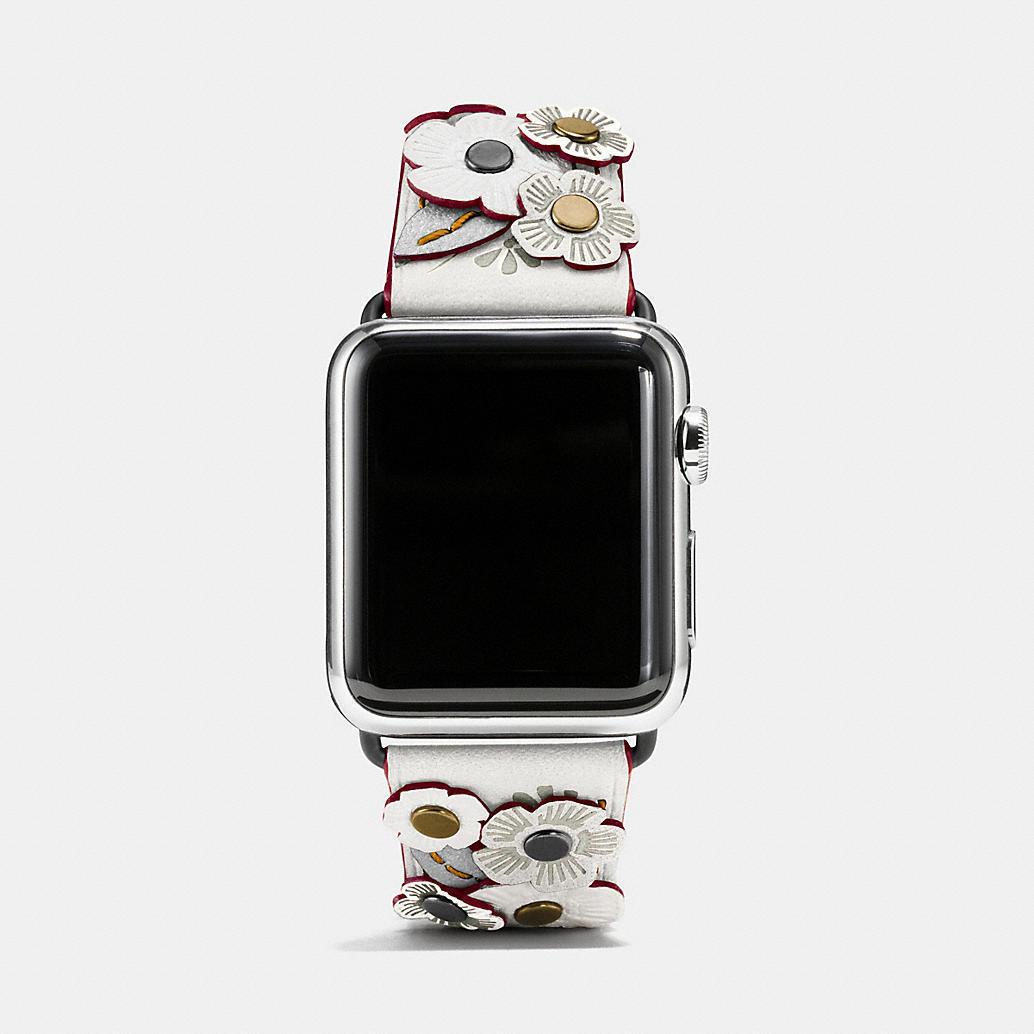 APPLEwatch-tea-rose applique leather-strap-coach1