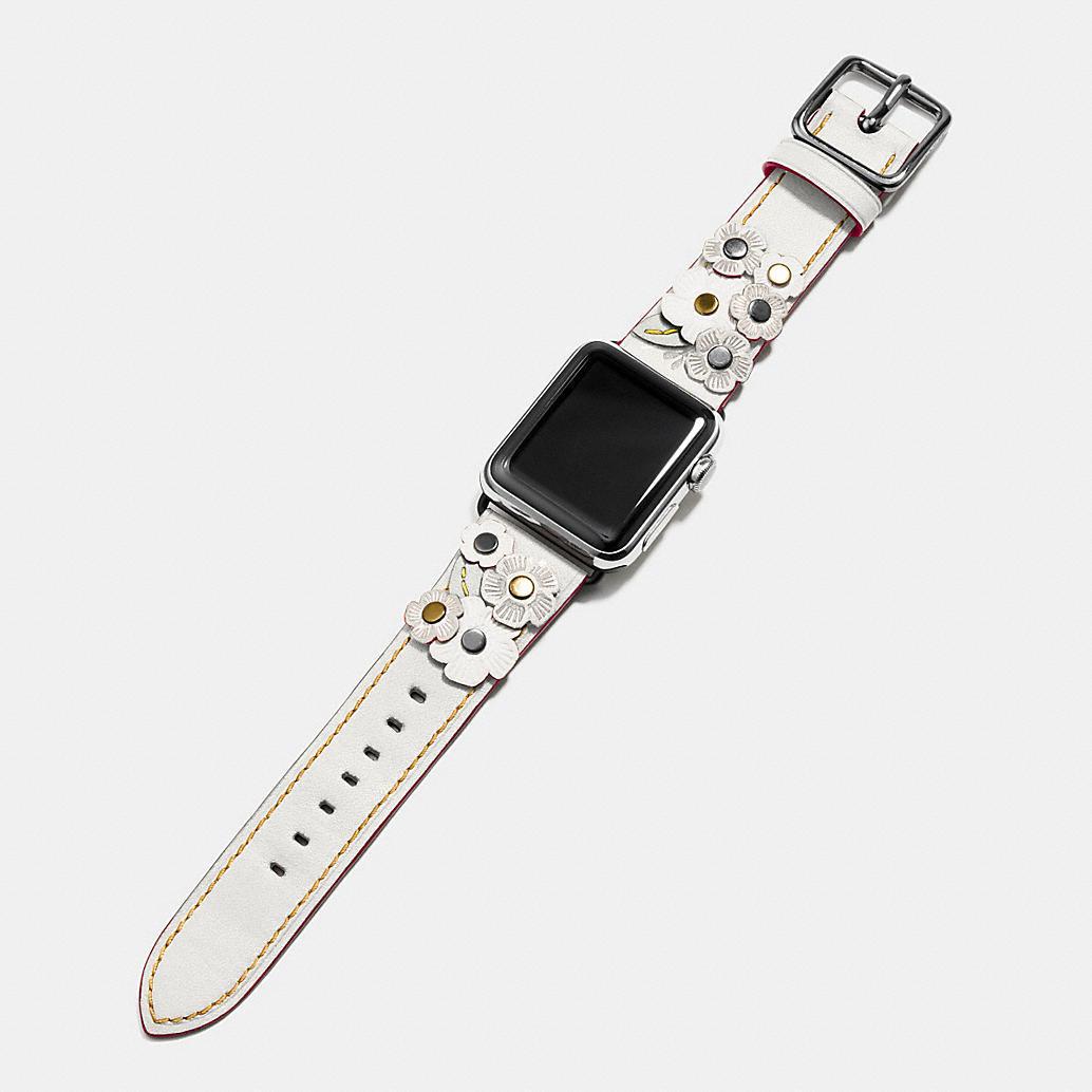 APPLEwatch-tea-rose applique leather-strap-coach2