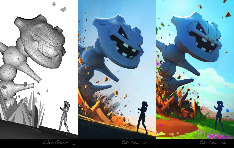 ポケモンgo 公式ブログでゲーム起動画面の制作過程を紹介 4種の壁紙