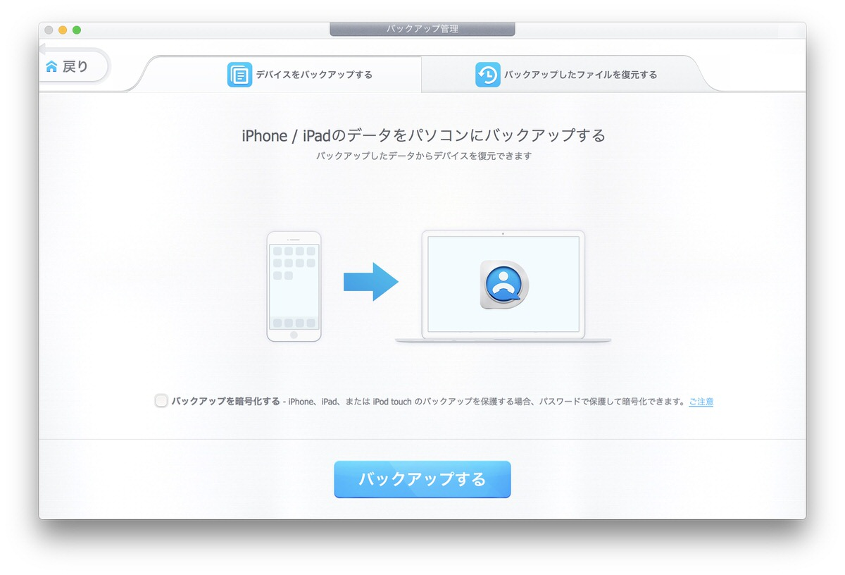 iPhoneデータ管理